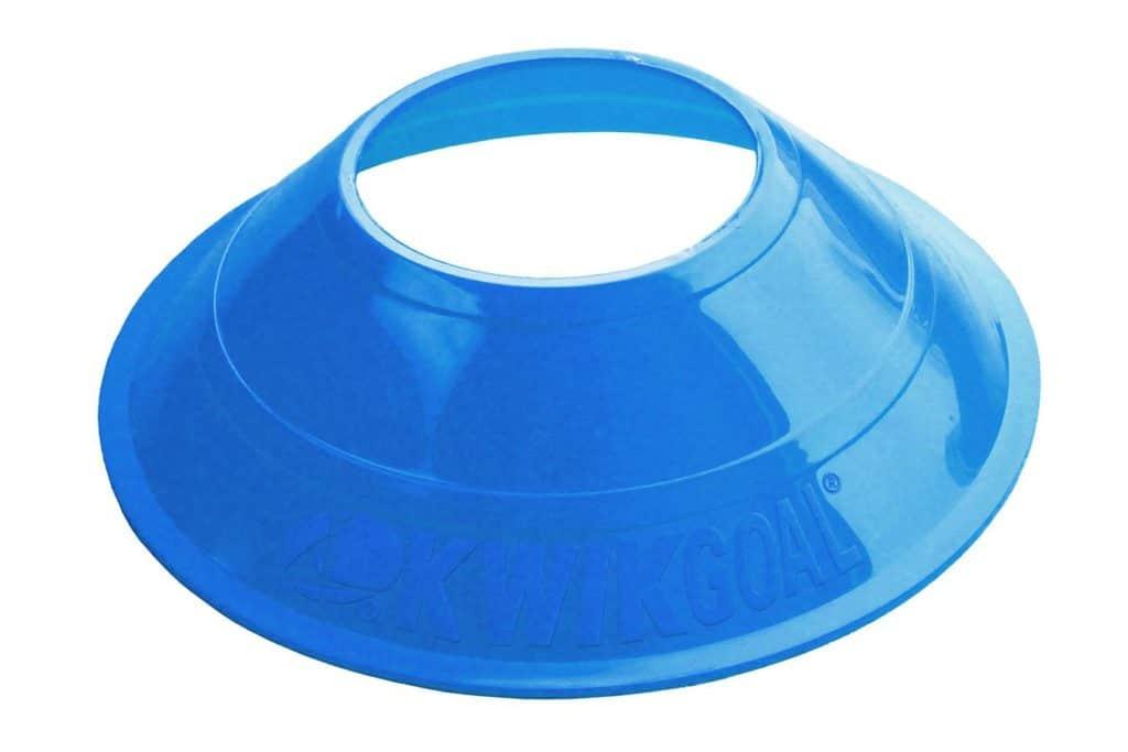 blue plastic cone